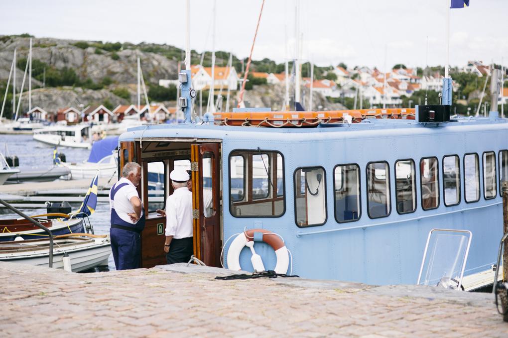 bröllop, marstrand, båt