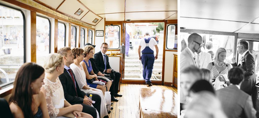 bröllop, marstrand, båt, gäster