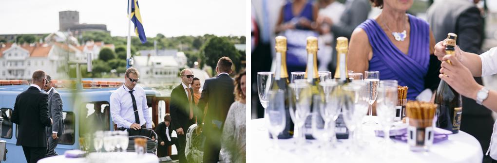 bröllop, marstrand, champagne