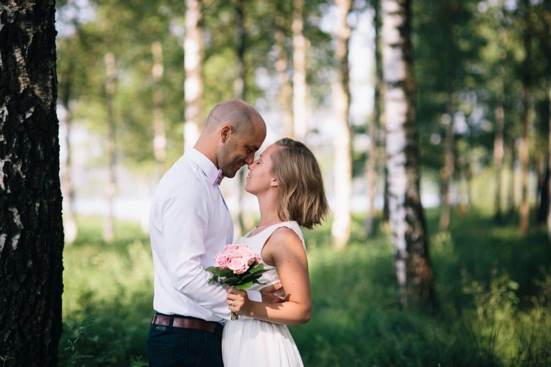 Magiskt ljus för bröllopsporträtt
