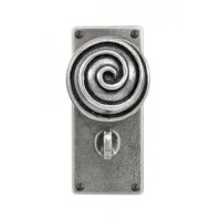 Swirl- Door Knob on 'JESMOND' Bathroom Backplate