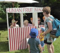 Fun at the Human Fruit Machine Ripley Fun Day 2017