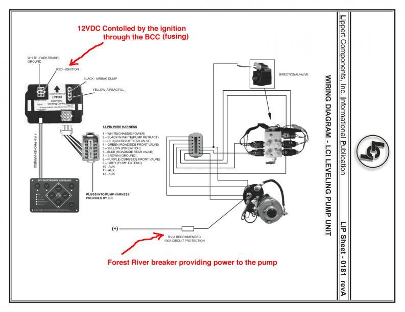hydraulic leveling jacks wiring diagram