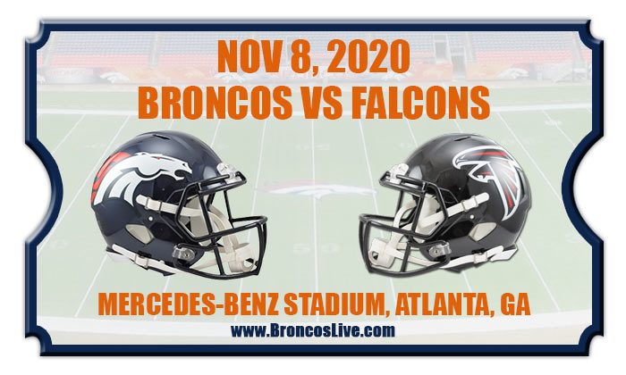 Wily veteran takes place on the pitch on sunday. Denver Broncos vs Atlanta Falcons Football Tickets | 11/08/20