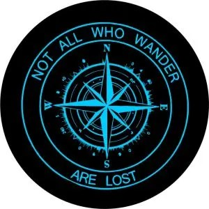 New Compass Teal Tire Cover