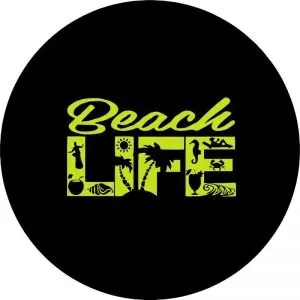 Yellow Beach Life Tire Cover