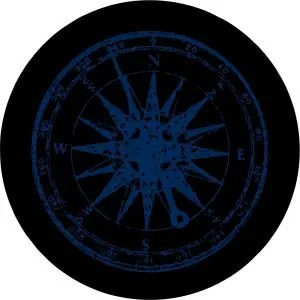 Blue Compass Tire Cover