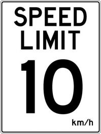 Speed Limit 10km/h Sign