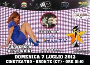 BRONTE: DOMENICA 7 LUGLIO LA FINALE DI TOP STAR TV