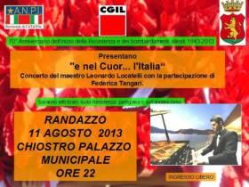 """RANDAZZO: IL CONCERTO """"E NEL CUOR… L'ITALIA"""" PER I 70 ANNI DELLA RESISTENZA"""