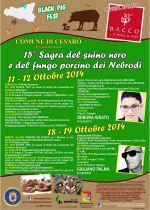 CESARO' : DUE WEEKEND DI FESTA CON LA SAGRA DEL SUINO NERO E DEL FUNGO PORCINO
