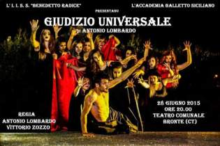 """BRONTE: DOMANI SERA AL TEATRO IL """"GIUDIZIO UNIVERSALE"""""""
