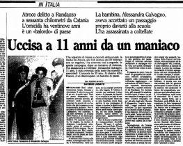 RANDAZZO: «L'AMMINISTRAZIONE INTITOLI UNO SPAZIO ALLA PICCOLA ALESSANDRA»