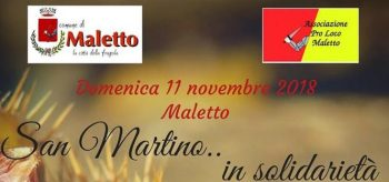 MALETTO: SAN MARTINO … IN SOLIDARIETA'