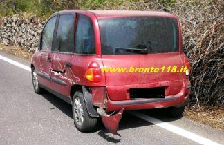 MALETTO-RANDAZZO: SCONTRO TRA 2 AUTO SULLA STATALE 284 SETTE FERITI E CODE