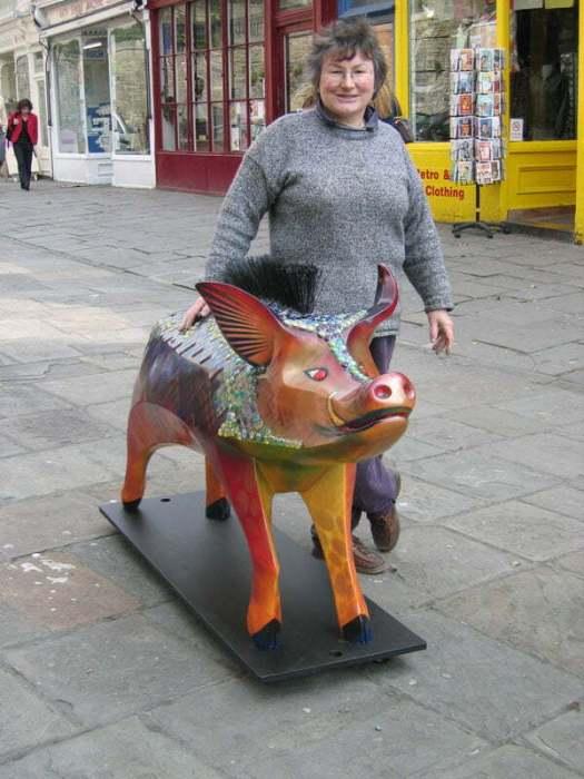 Bath pig Igor in Walcot St. Bath