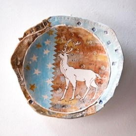'White Hart 2' Decorative charger D264
