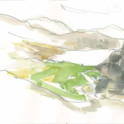 Nant Gwynant 21 drawing