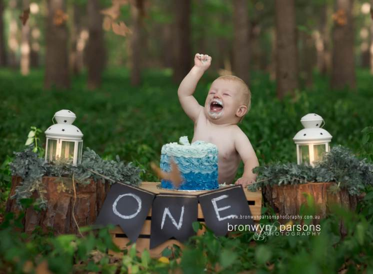 Rustic Cake Smash Photography Canberra