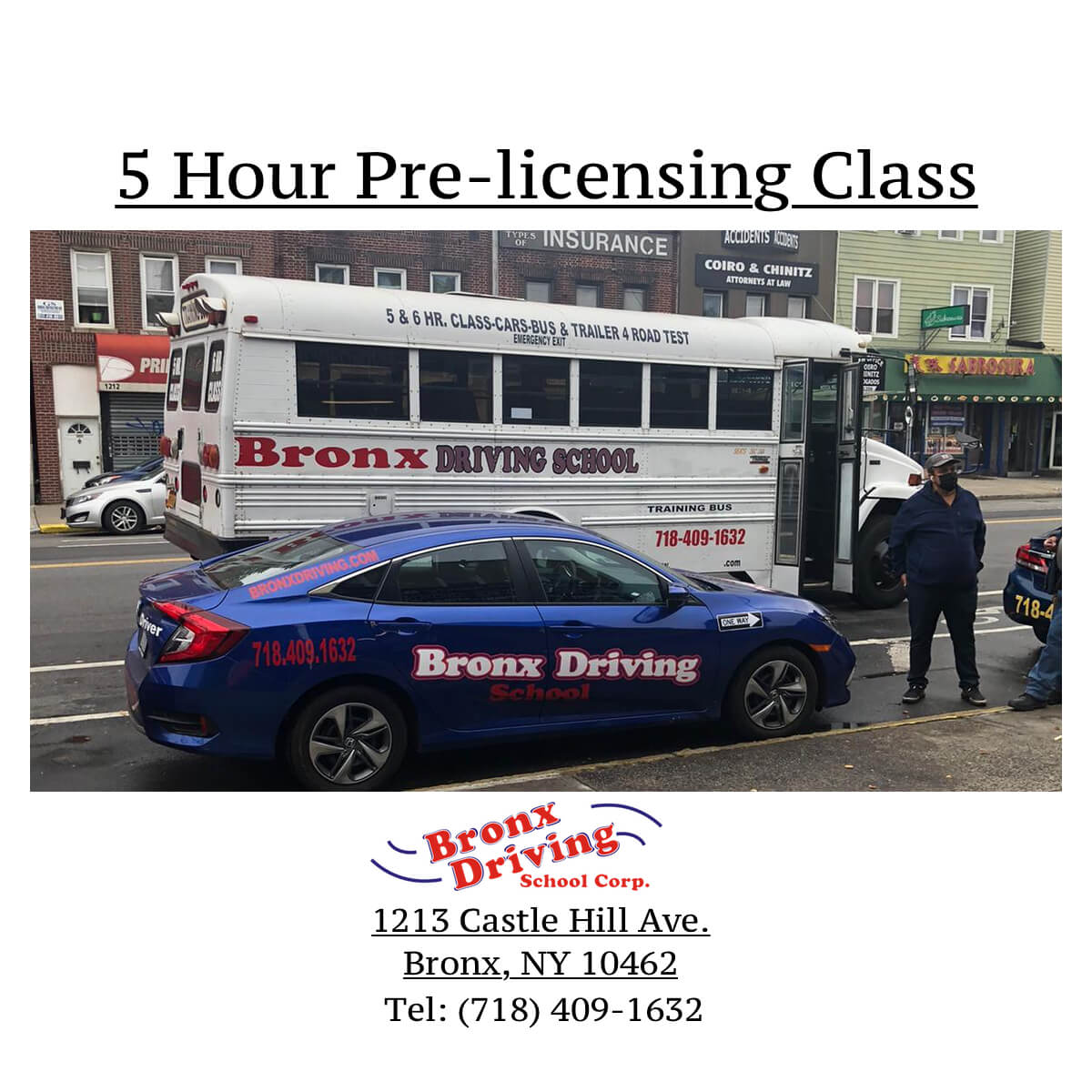 Bronx Driving School 5 Hour Pre-licensing Class