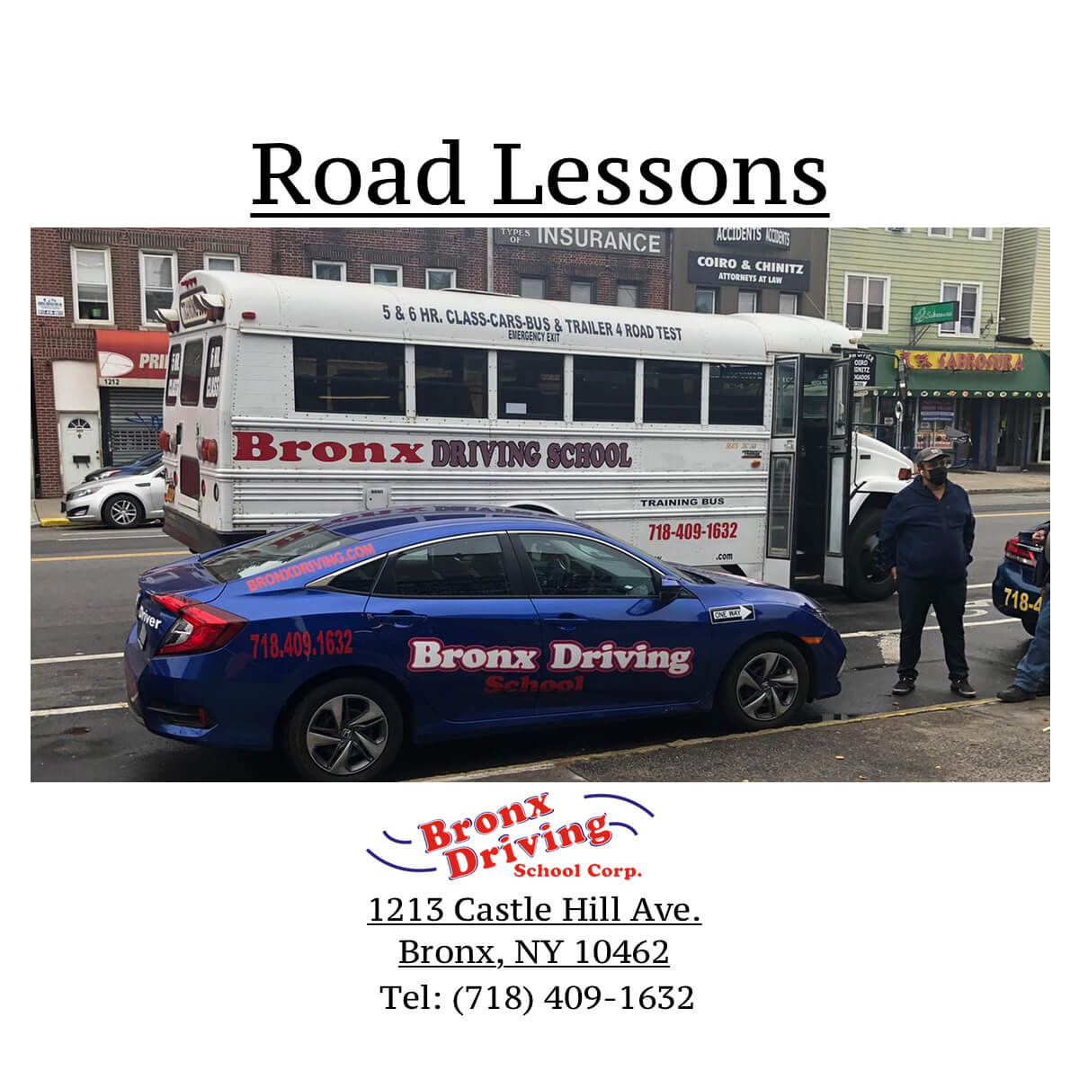 Bronx Driving School Road Lessons