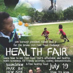 Health Fair at Soundview Park
