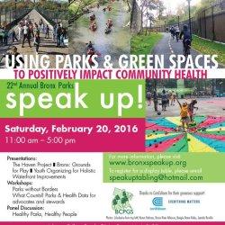 22nd Annual Bronx Parks Speak Up!