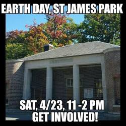 Earth Day Volunteering at St. James Park