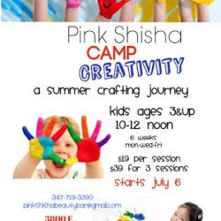 Camp Creativity: A Summer Crafting Journey with Pink Shisha