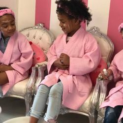 Celebrating 6 at Pink Princess Nails in Westchester Square