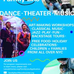 Lincoln Center's Family-Linc Program Registration