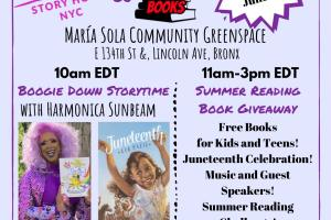 Free Book Giveaway for Bronx Children and Teens