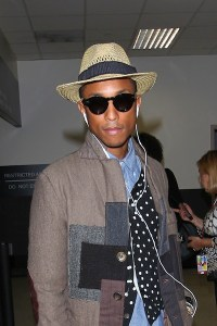 Pharrell Williams At LAX