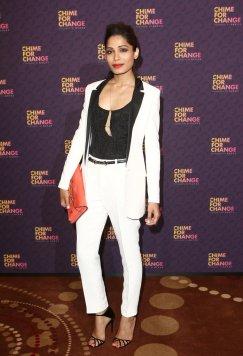 Freida-Pinto-took-menswear-route-white-tuxedo-suit-Gucci