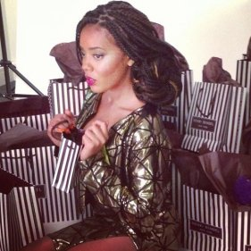 Angela Simmons box braids