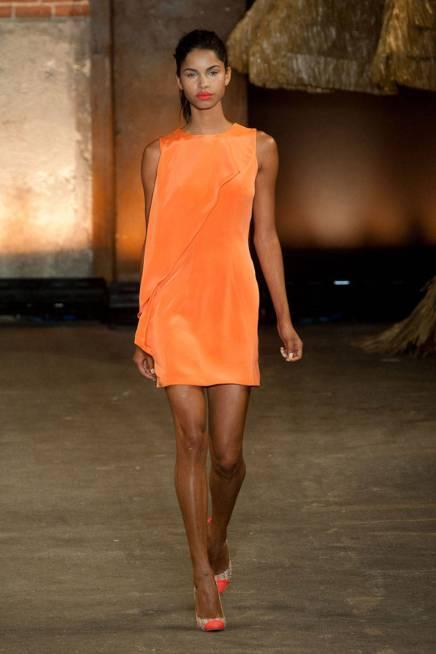 Orange Christian Siriano dress