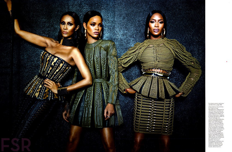 Balmain editiorial feat Iman, Naomi and Rihanna2 resized