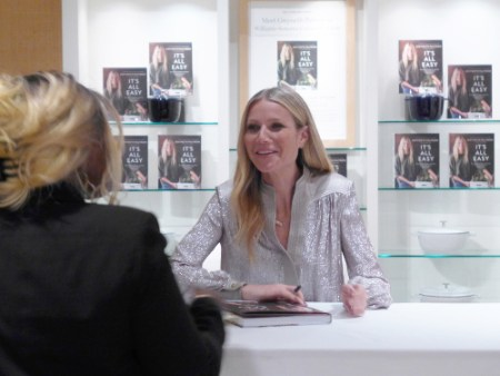 Gweneth Paltrow cookbook signing NYC
