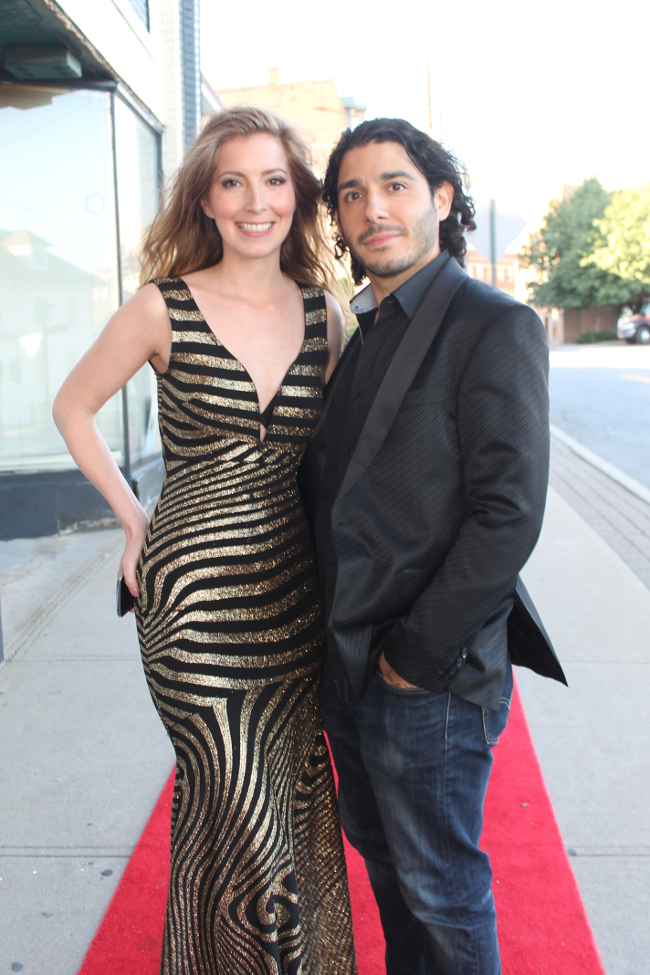 Actor Joe Gawalis and red carpet host Oriana D. Agostino
