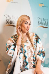 Keke Wyatt stopped by the My Black is Beautiful Booth at Essence Festival 2016 resized