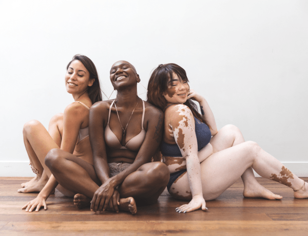 Body positivity - women friends posing together