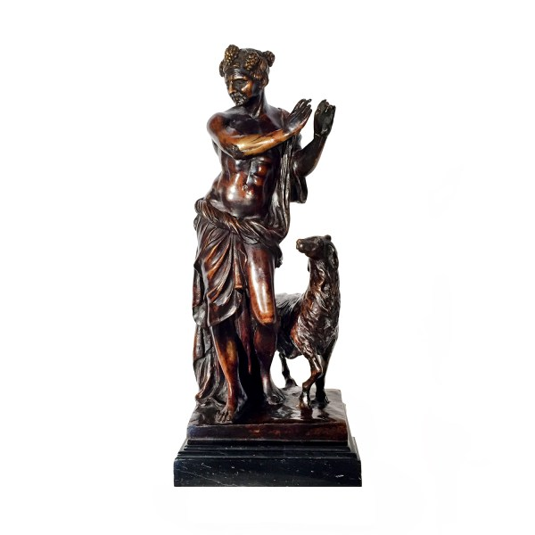 Bronze Serenade Sculpture Marble Base Metropolitan