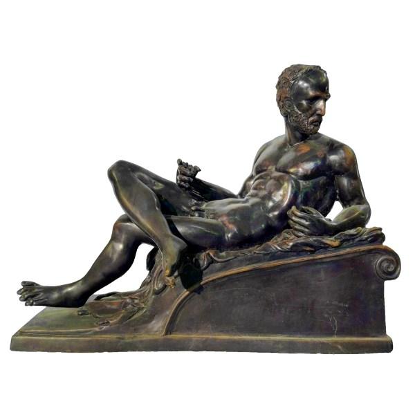 Bronze Nude Man Base Sculpture Metropolitan Galleries