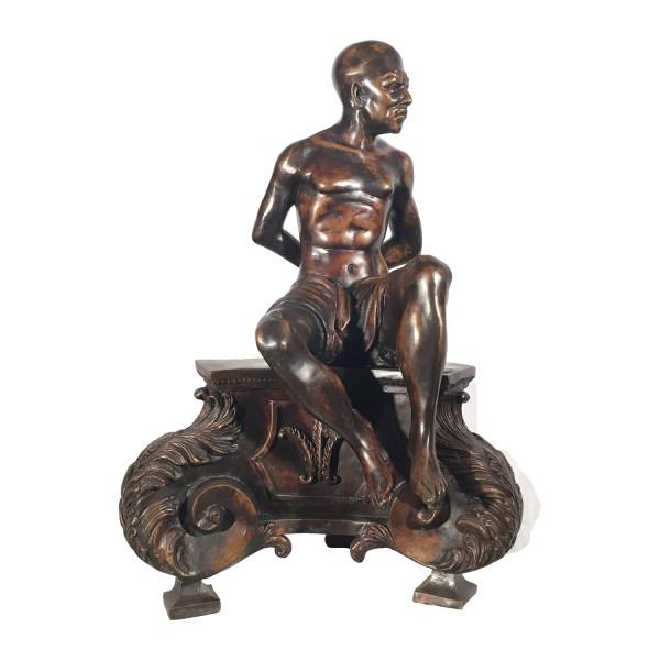 Bronze Blackamoor Base Sculpture Metropolitan
