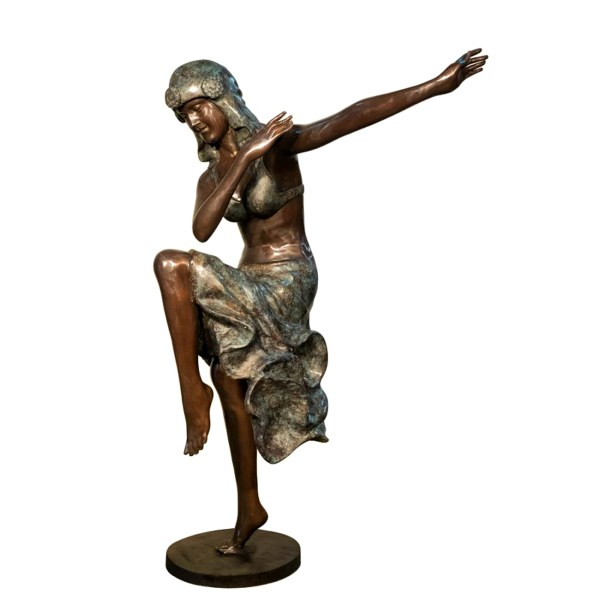 Bronze Lady Dancer Sculpture Metropolitan Galleries