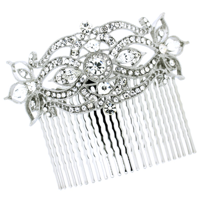 bridal hair accessoriesvintage antique silver and swarovski crystal hair b