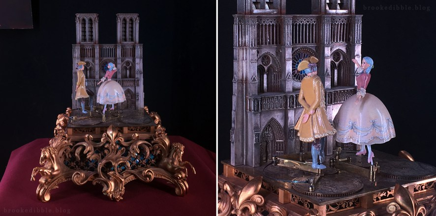 I sculpted the miniature dancer figurines for this one. The incredibly beautiful base was sculpted by Marc. Beauty & the Beast movie props at the El Capitan Theatre