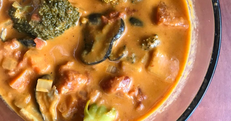 Coconut Red Curry Vegetable Soup