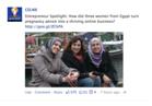 A sample Facebook post from Innovation Generation on female entrepreneurs from Egypt.