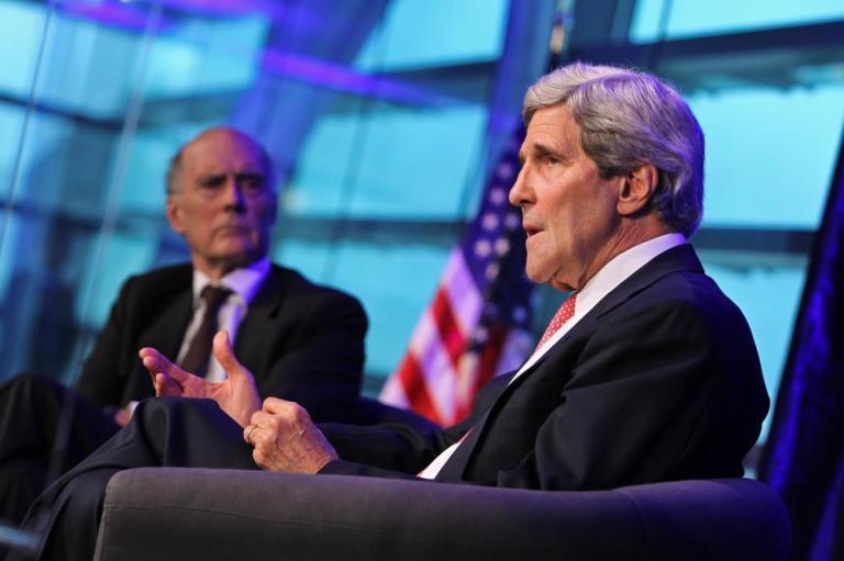 John Kerry and Strobe Talbott